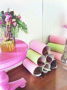 Sapateiras de canos de PVC