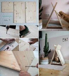 Pet rabbit toys diy 48 Ideas for 2019 Cat House Diy, Wooden Cat House, Diy Casa, Cat Scratcher, Cat Room, Pet Rabbit, Rabbit Toys, Pet Furniture, Animal Projects