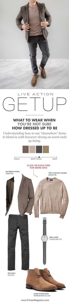 what to wear when not sure how dressed up to be