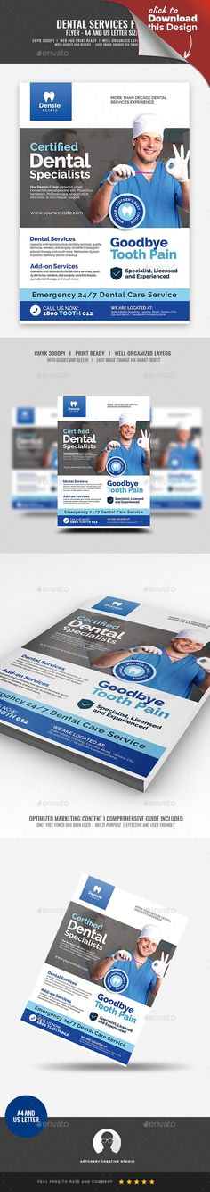 a4 flyer, blue, clean, clinic, cosmetic, cosmetic dentistry, dental, dental clinic, dental services, dentist, dentistry, dentures, doctor, extractions, flyer, molar, mouth, nurse, orthodontics, smile, teeth, tongue, tooth, white Dental Clinic Promotional Flyer Design Template   Boost your company's sales and attract new customers! This Dental Clinic Promotional Flyer Design Template have been developed to boost your Ultimate Marketing strategy and brand/product awareness, Perfect for large…