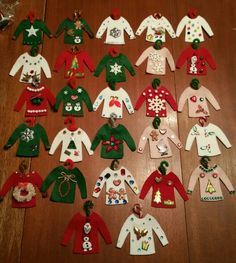 Ugly Christmas sweater ornaments