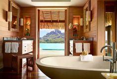 Otemanu Over Water Bungalow, @Mandy Dewey Seasons Resort Bora Bora