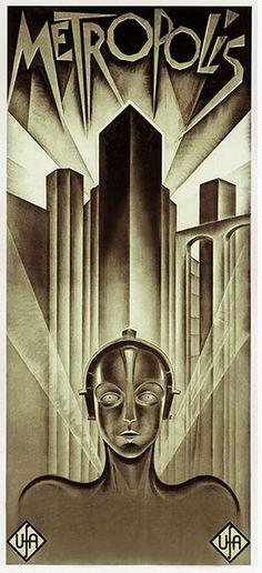 Gorgeous Metropolis movie poster.