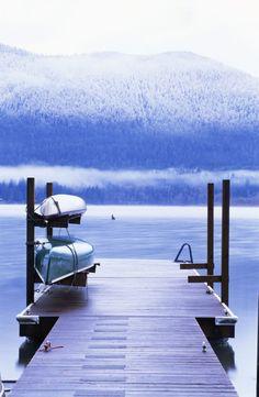 Winter on Lake Quinault, WA