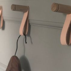"Scandinavian|Design + Function on Instagram: ""I finally got round to changing my bathroom hooks and I chose these beauties- made from oak and leather. I'm pretty happy with the result!…"""