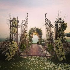 Wedding ceremony decor | beautiful | wedding arch | wedding arch with gate | wedding ceremony ideas