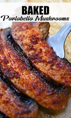 Tasty Vegetarian Recipes, Easy Healthy Recipes, Vegetable Recipes, Low Carb Recipes, Whole Food Recipes, Cooking Recipes, Healthy Snacks, Vegetarian Mushroom Recipes, Portobello Recipes