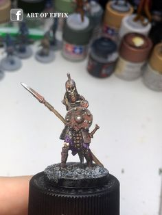 Conan - skeleton with spears 02 - painting Effix