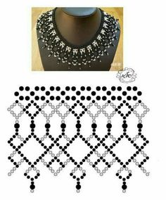Best 12 A pattern for necklace – SkillOfKing. Diy Necklace Patterns, Seed Bead Patterns, Beaded Jewelry Patterns, Beading Patterns, Seed Bead Jewelry, Bead Jewellery, Jewelry Making Beads, Beadwork Designs, Beading Tutorials