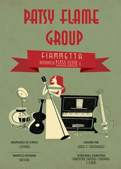 Poster for Patsy flame group on Behance