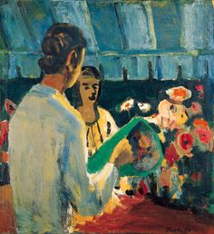 David Park (1911-1960), The Flower Seller 1956, oil on canvas