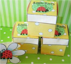 These little party favor boxes are great for a take home treat and also look great at a table setting.  This packet includes instructions, pictures and box images.  Download, print and party!