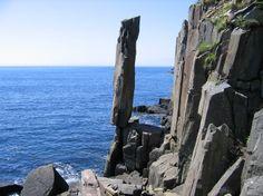 Balancing Rock in St. Marys Bay on Long Island, Nova Scotia (Digby Neck)