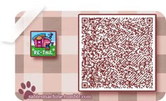 Animal Crossing QR Codes - Flag/Sign