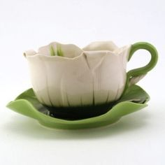Mustardseed & Moonshine Tea Cup & Saucer Set - Daylily Oriental by yvette