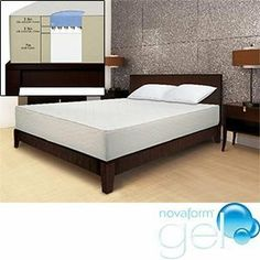Novaform Gel Memory Foam Cal. King Mattress by Novaform. $1034.99. Discover the science behind a better night's sleep. The very first of its kind, the Novaform® Gel memory foam mattress combines the comfort of memory foam with the smart support of gel. Together, they minimize pressure points, providing more balanced support. You'll sleep faster, deeper and wake up rested and refreshed. Innerspring mattresses can cut off circulation which compromises sleep comfort and causes you ...