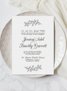 Wedding Invitation Template Download | Hand Drawn Invitation | Printable and Customizable | Digital Download for Word | Free RSVP Template