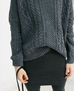Style - Minimal + Classic: cable knit with skirt