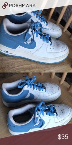 Nike baby blue airforces Baby blue super cute authentic airforces Nike Shoes Sneakers