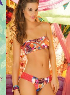 Festival Bandeau Two Piece Swimsuit by Paradizia Swimwear     - Afford to look beautiful this summer time. Get this gorgeous two piece bandeau bikini and feel how your heart just melts away with its exquisite fabrics and designs!   - Price $175