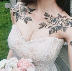 Rose tattoos for women are the latest in-vogue fashion. We cover the most popular rose tattoos for women, their meanings, and examples. Stomach Tattoos, Top Tattoos, Trendy Tattoos, Body Art Tattoos, Female Tattoos, Female Chest Tattoo, Feminine Tattoos, Tatoos, Rose Tattoos For Women