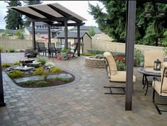 A beautiful outdoor living area for those who wish to entertain outside.