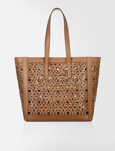 Shopping bag in pelle