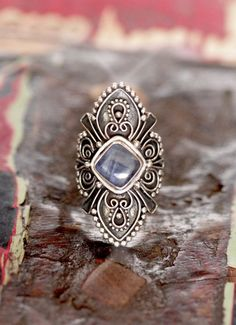 Skystream a Kyanite statement ring by Don Biu