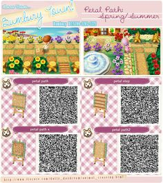 Animal Crossing New Leaf QR codes: Petal Path Bumbury Lawn