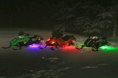 Snowmobiles with neon :)
