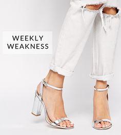 Weekly Weakness - ASOS Metallic Heels - via @poorlilitgirl