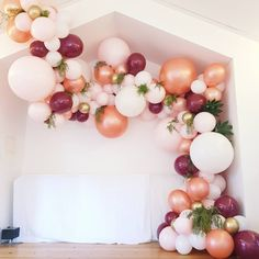 Floraly balloon garland we created today for a 21st