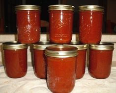 Home made ketchup made from home grown Cherokee Purple tomatoes.  Just like Grandma used to make!