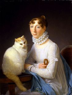 La Dame Avec Son Chat, Marguerite Gurard