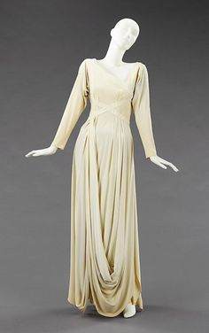 love this skirting.    Dress  Valentina, 1935  The Metropolitan Museum of Art