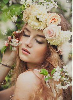 #Floral Crown #Whimsical #Wedding #Flowers #Women