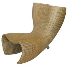 Marc Newson Wicker Felt Chair Produced by Idee | From a unique collection of antique and modern lounge chairs at http://www.1stdibs.com/furniture/seating/lounge-chairs/