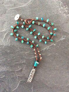 Beaded crochet necklace 'Dream a little dream' by Mollymoojewels