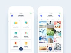 Boxes (Folders) & Single Box (Folder) Views by Nimasha Perera #Design Popular #Dribbble #shots