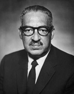 1st African American Supreme Court Justice Thurgood Marshall.