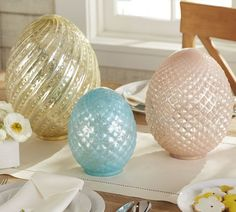 Luster Mercury Glass Eggs | Pottery Barn