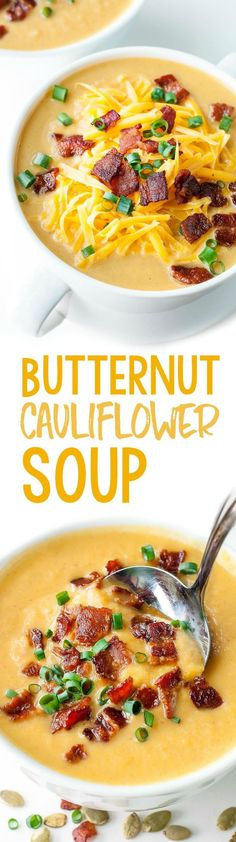 Grab your pressure cooker (or slow cooker!) and throw together this tasty butternut cauliflower soup in record time!