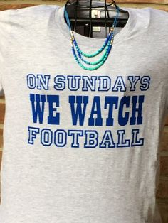 A personal favorite from my Etsy shop https://www.etsy.com/listing/474281265/on-sundays-we-watch-football-heather