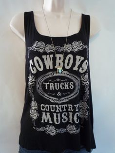 Cowboys Trucks and Country Music Tank Top by AngeliqueApparel
