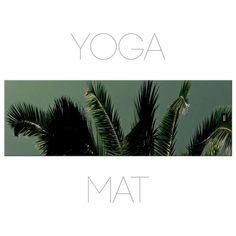 Palm Tree Yoga Mat Yoga Mats Photo Mat Tropical by Macrografiks Green Mat, Yoga Accessories, Yoga Mats, Tropical Decor, Palm Trees, Plant Leaves, Things To Come, Prints, Image