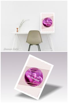 Nevertheless She persisted print, Purple motivational quote wall art, inspirational wall décor printable poster, digital download, Home office décor