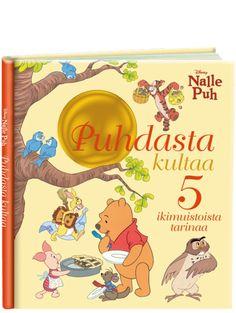 Nalle Puh, Puhdasta kultaa -kirjassa on kaunis nostalginen kuvitus ja viisi opettavaista tarinaa. Winnie The Pooh, Disney Characters, Fictional Characters, Youtube, Art, Art Background, Kunst, Performing Arts, Fantasy Characters
