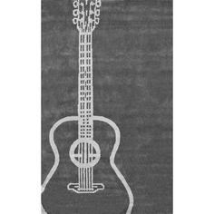KenoGuitar Rug ($174) ❤ liked on Polyvore featuring home, rugs, braided area rugs, shag area rugs, shag rugs, braided rugs and flokati shag rug