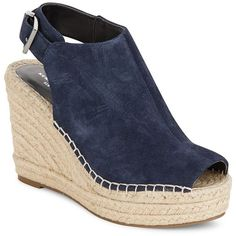 75de78eb027 Kenneth Cole Odette Suede Espadrille Wedge Sandals ( 50) ❤ liked on  Polyvore featuring shoes