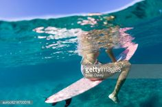 Stock Photo : Underwater view of a surfer, Hawaii, USA.
